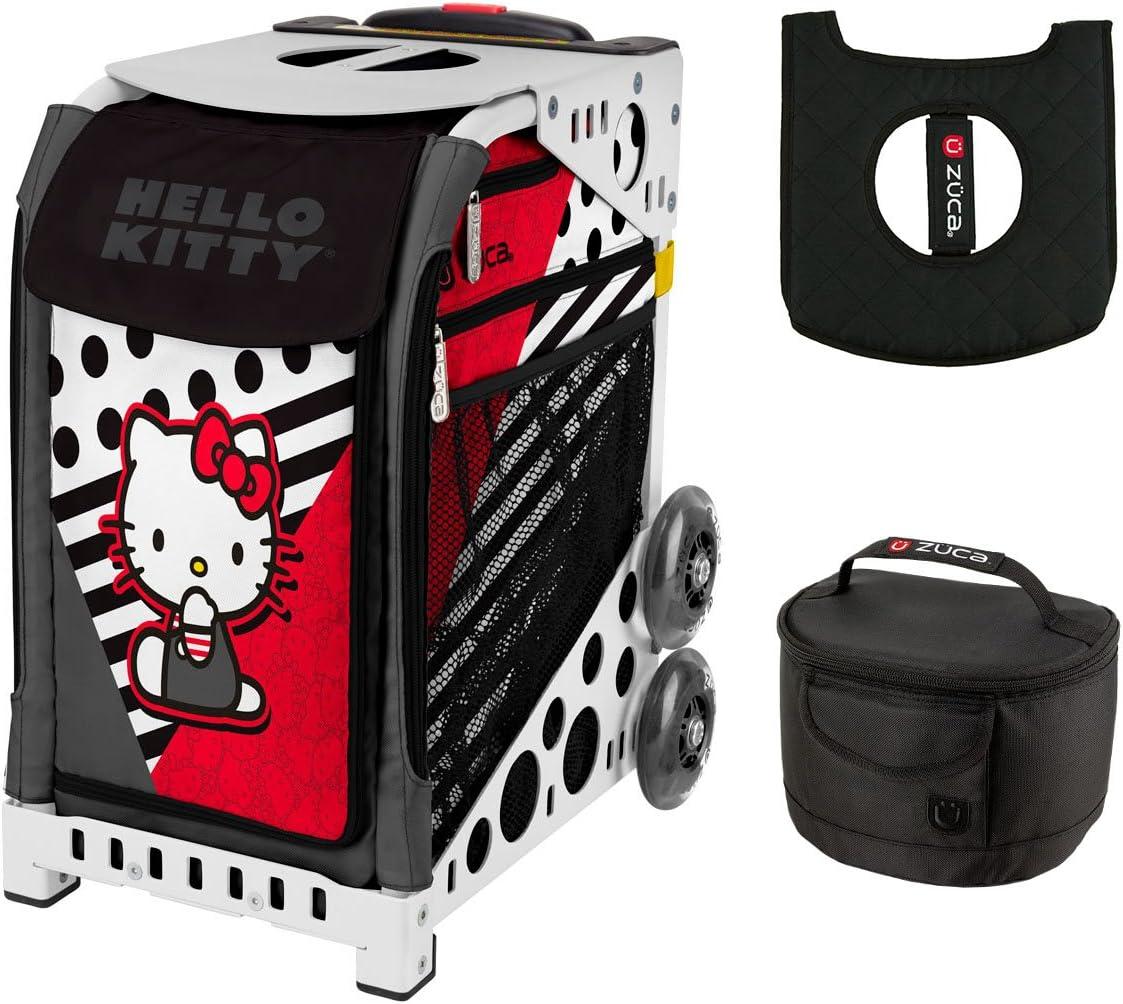 Zuca ハローキティ柄 プレイスポーツバッグ ホワイトフレーム ランチボックス シートクッション