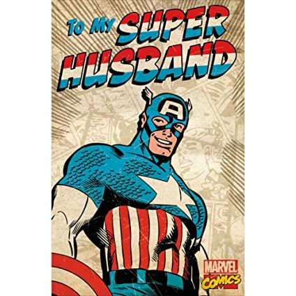 Amazon Captain America Retro Marvel Comics Husband Birthday