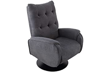 SuenosZzz - Sillon Relax reclinable Ground tapizado Tela Color Gris | Sillon reclinable butaca Relax de pie | Sillon orejero Individual Salon | Butaca ...