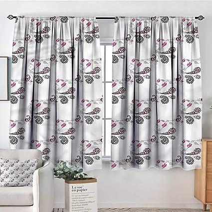 Amazon.com: Anzhutwelve Paisley,Room Darkening Curtains ...