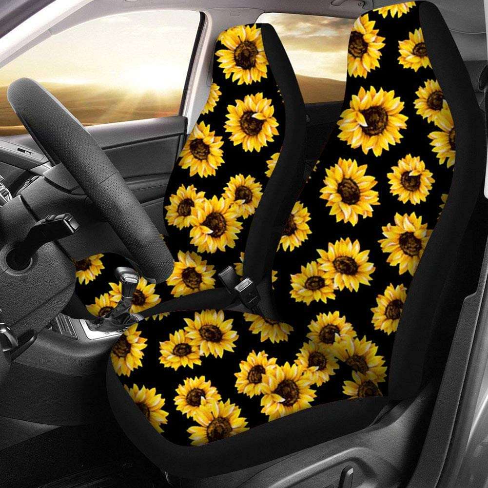 Set of 11 Seat Covers//Car Mats//Sunshade//Steering Wheel Cover//Armrest Pad//Seatbelt Pad FUIBENG Purple Butterfly Print Universal Car Accessories for Women