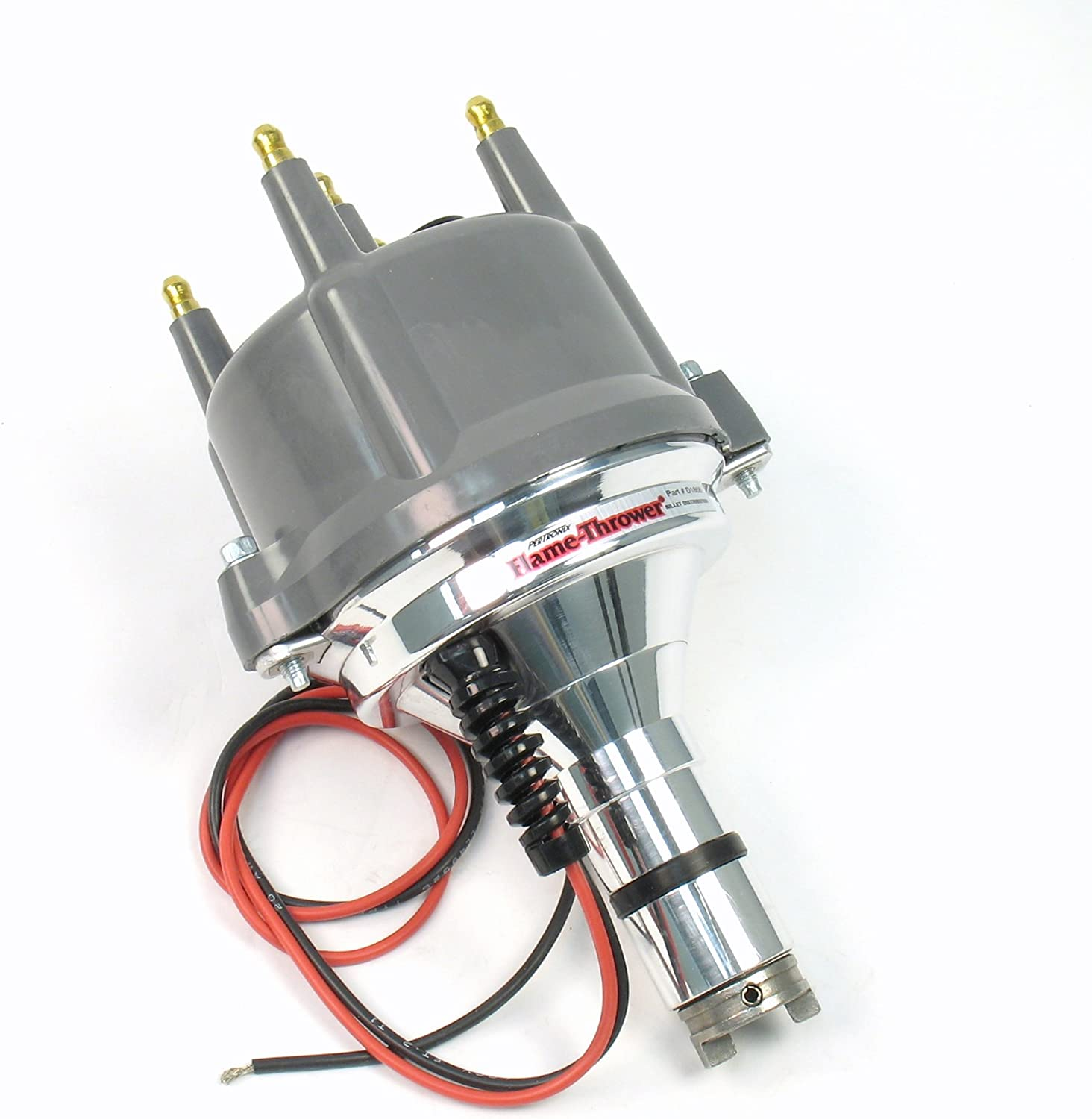 Pertronix D186813 Flame-Thrower Plug and Play with Ignitor Non Vacuum Gray Cap Billet Electronic Distributor with Ignitor II Technology for VW Type 1 Engine