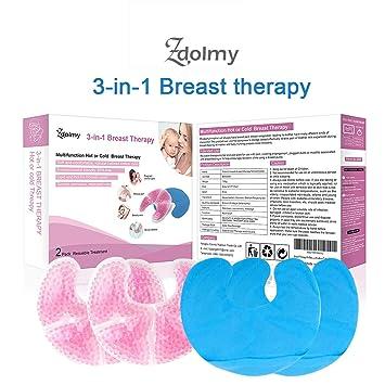 Amazon.com: Zdolmy almohadillas de gel para terapia de pecho ...