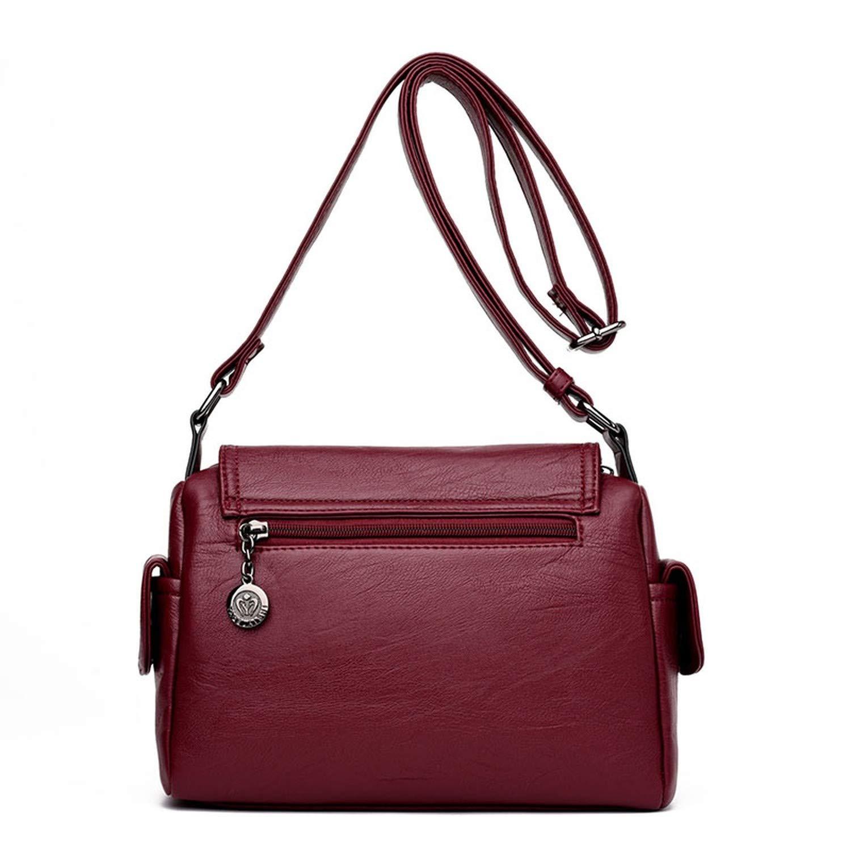 db668054d8 Amazon.com: Fashion Woman Bag Leather Crossbody Bags For Women ...