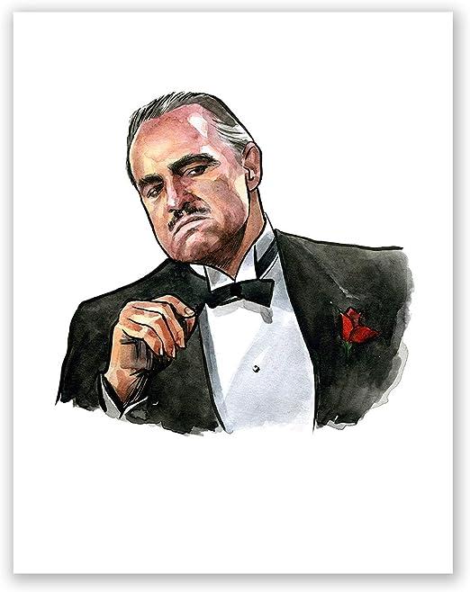 The Godfather Vito Corleone Marlon Brando VINYL DECAL STICKER