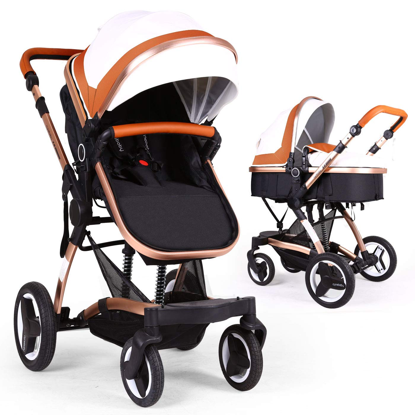 Bassinet Baby Stroller Reversible All Terrain Cynebaby Vista City Select Strollers For Infant Toddler Pram Pushchair Add Net Cover Mellow Coffee