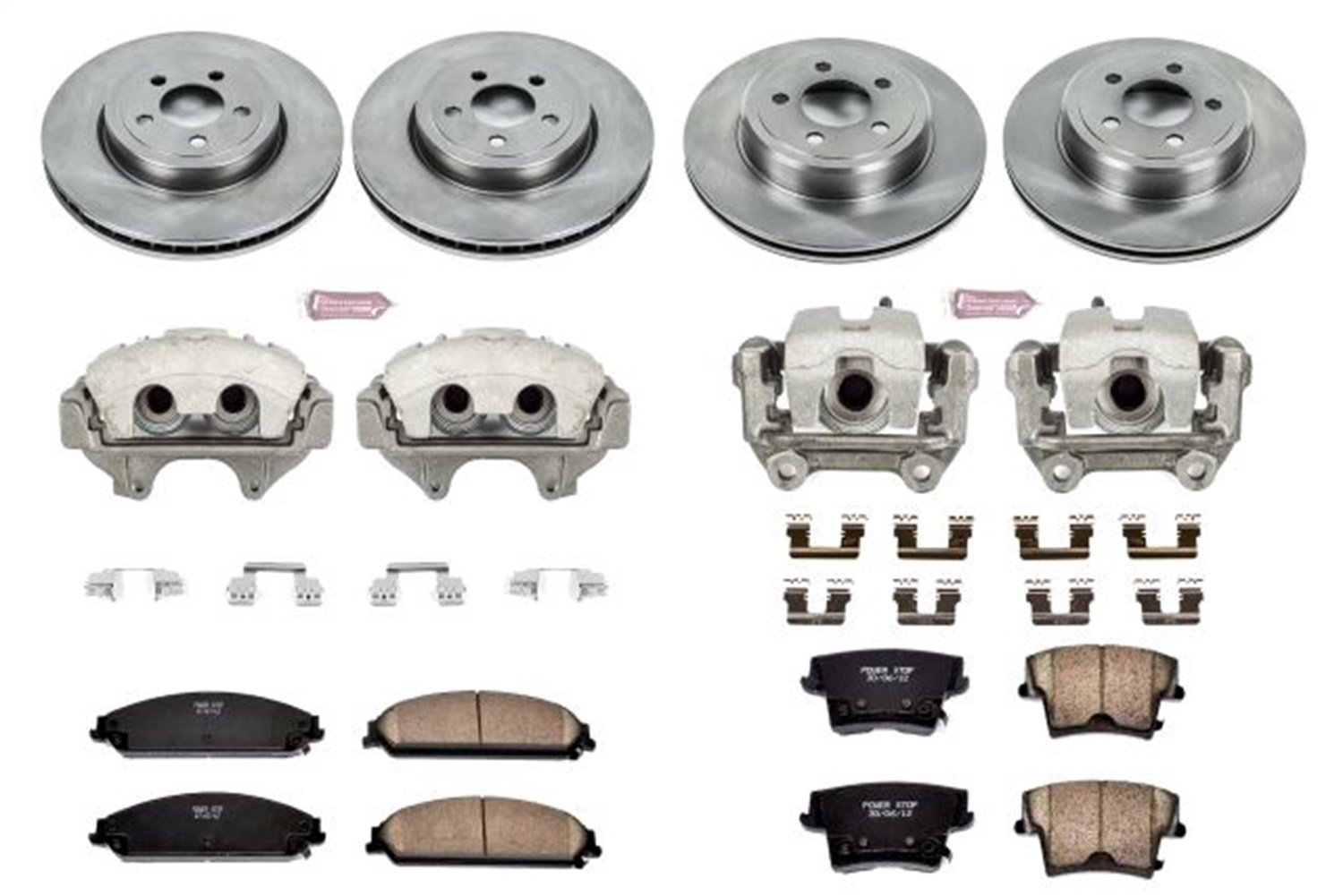 Power Stop KCOE2853 Autospecialty 1-Click OE Replacement Brake Kit with Calipers