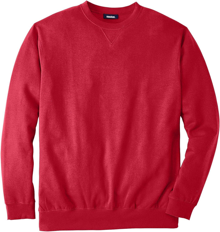 KingSize Mens Big /& Tall Fleece Crewneck Sweatshirt