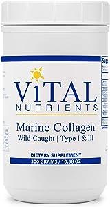 Vital Nutrients - Marine Collagen Powder - Type 1 and 3 Collagen Protein Supplement - 300 Grams