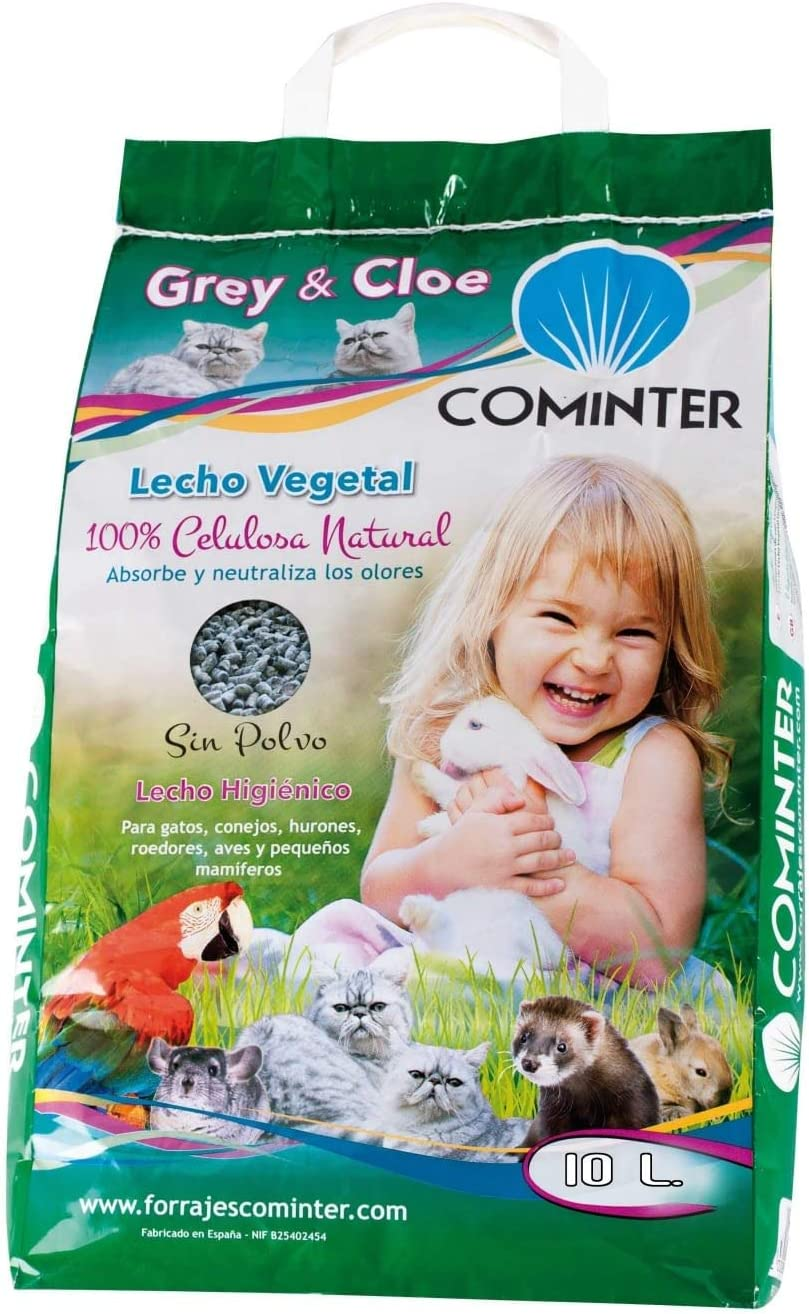 Cominter - Lecho Vegetal para Mascotas Papel Grey & Cloe 10 L