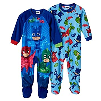 75408524f7 Image Unavailable. Image not available for. Color  PJ Masks Blanket Sleeper Footed  Pajamas Toddler Boy (2T)