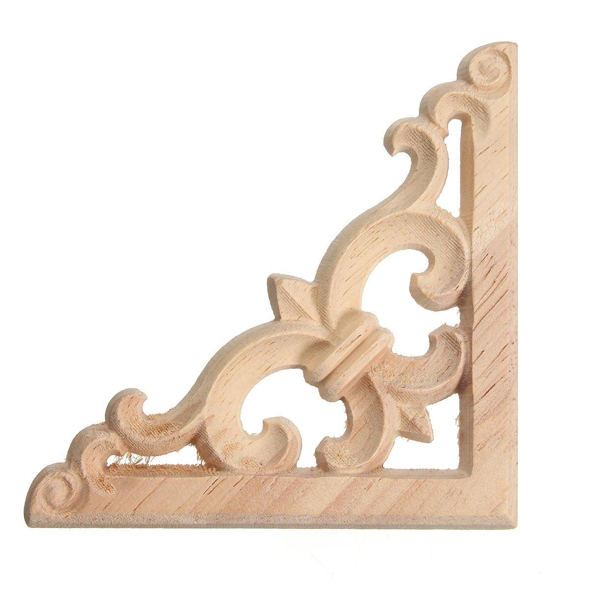 Ausverkauf Verzierung Schnitzerei Möbe Zierelemente Holzornamente 27 x 4  cm