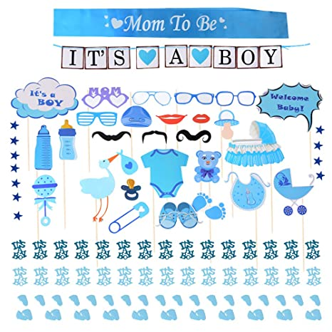 Babyparty Jungen Deko Baby Shower Party Boy Taufe Dusche Für