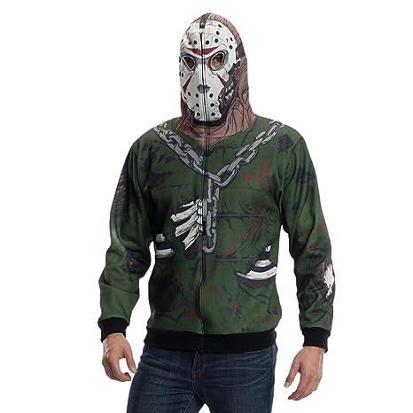 varietà di design gamma molto ambita di vendita scontata Venerdì 13 - Costume di Jason Voorhees - Felpa con cappuccio - perfetta per  halloween o carnevale - XL