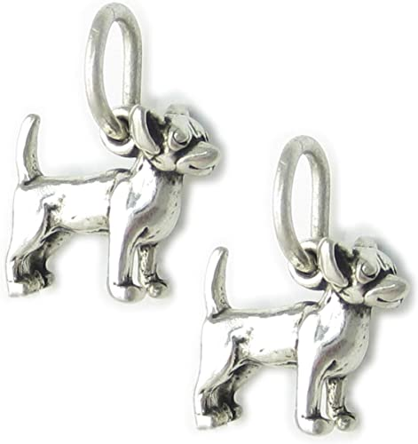 Pack of 10 Chihuahua Dog TINY sterling silver charms Dogs charm SSLP3538-XX10