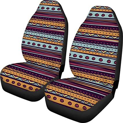 BIGCARJOB Colorful Stripe Seat Cover - Easy To Install