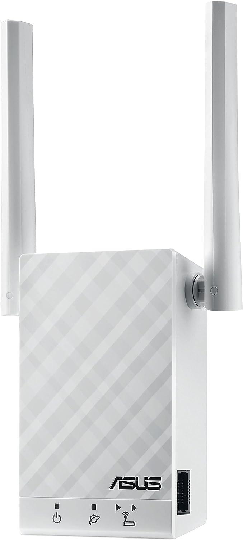 ASUS RP-AC55- Repetidor Extensor de Red WiFi AC1200 Doble Banda (Puerto LAN Gigabit, Modo Punto Acceso, indicador LED señal)
