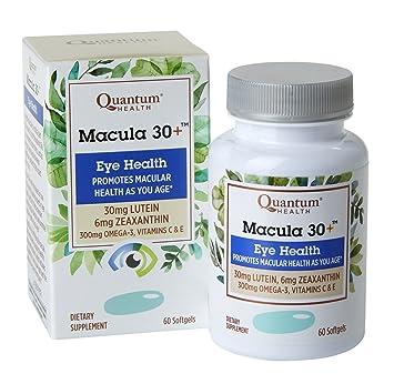 Quantum Health Macula 30+ Softgels, Eye Supplement, Macular Health - Lutein, Zeaxanthin