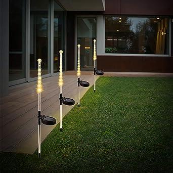 Luces solares de jardín KEEDA para exteriores, estacas de ducha de meteorito solar, resistentes al agua, para patio, patio, camino: Amazon.es: Iluminación