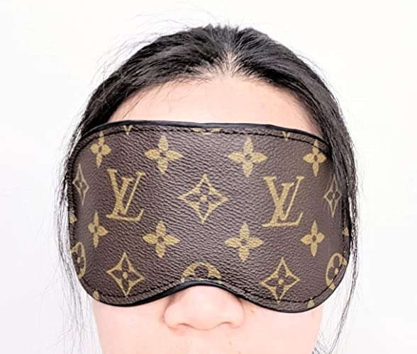 6885f6b53b0d Amazon.com: Handcrafted Eyemask made from authentic LV old bag canvas - please read item description before you make your purchase: Handmade