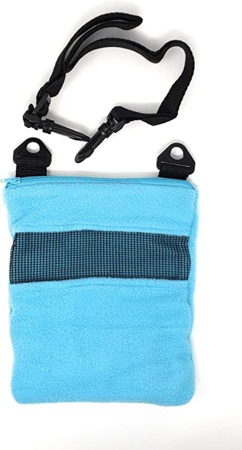 Lambie Jammie Bonding Pouch for Sugar Gliders, Hedgehogs, Bunnies, Or Other Small Pets, Great for Bonding and Sleeping to Better Your Relationship with Your Pet (Light Blue)