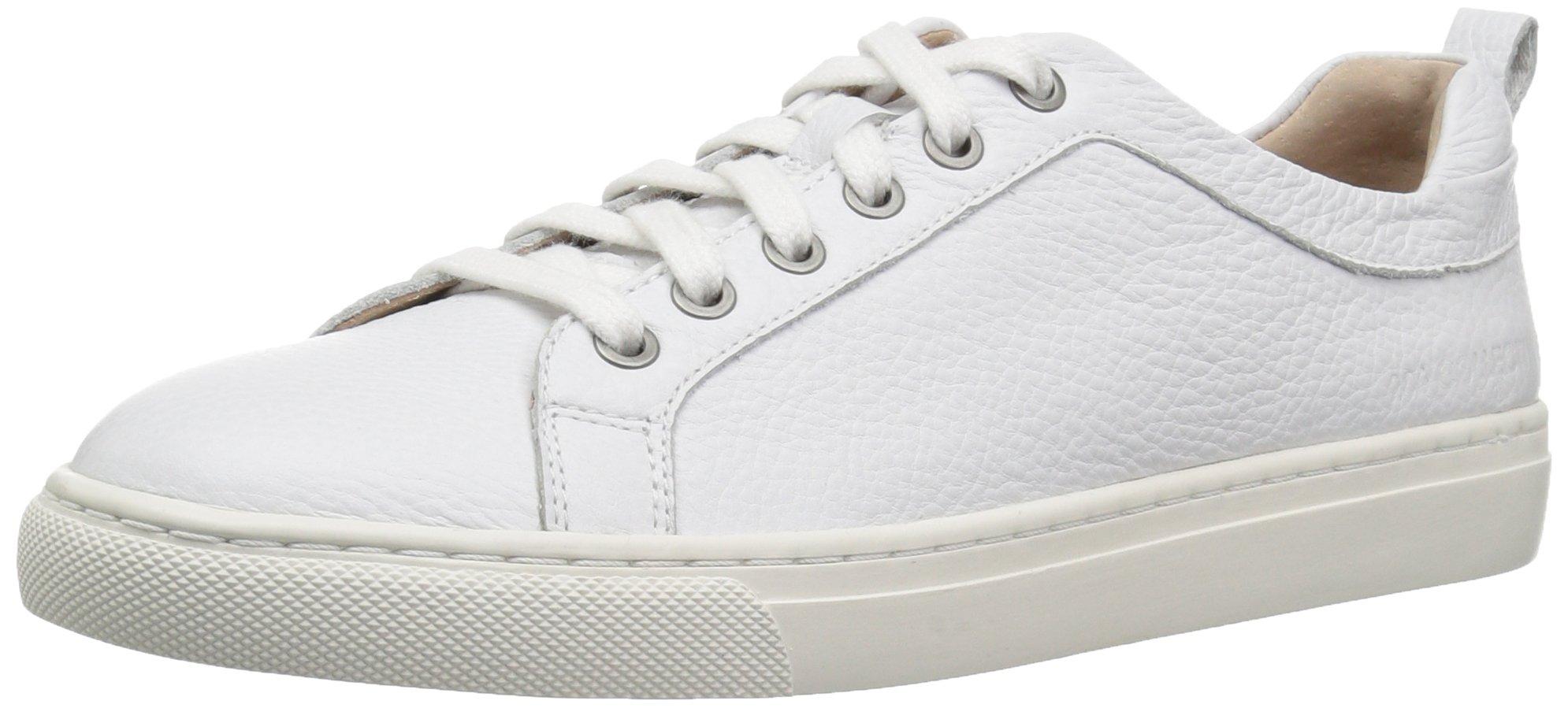 206 Collective Women's Lemolo Lace-up Fashion Sneaker, White Leather, 11 B US