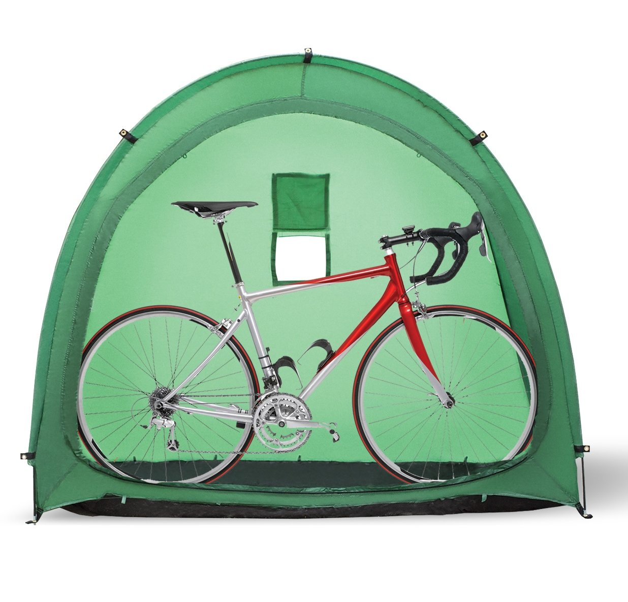 Bike Tent Outdoor Portable Garage Shed Bicycle Storage Space Saver Garden Tools Storage and Pool Storage (Green) (Green)