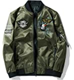 MA-1 ジャケット ミリタリージャケット 両面着 ブルゾン 男女兼用 防風撥水 刺繍 ワッペン 大きいサイズ ジャンパー