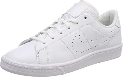 6a185029eb3 Nike Kids Tennis Classic Prm (GS) White White Tennis Shoe 6.5 Kids US