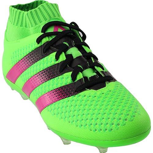 1106853a59c Adidas Jr Ace 16.1 Primeknit FG AG Soccer Cleats (SGREEN SHOPIN CBLK
