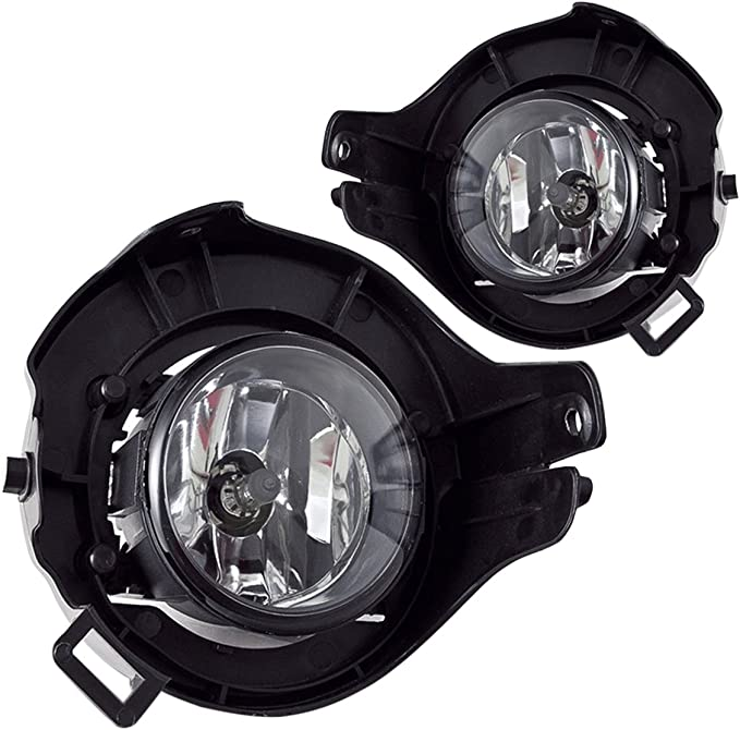 For 05-12 Xterra Chrome Halo Projector Headlights+White LED Driving Fog