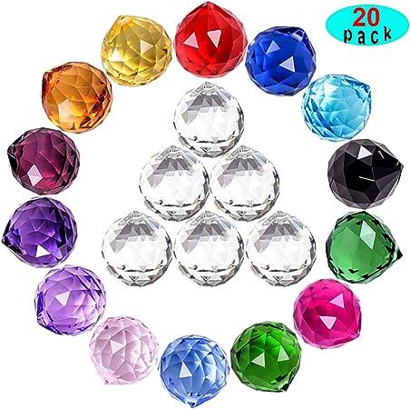 1 Clear Crystal Feng Shui Lamp Ball Prism Rainbow Sun Catcher Wedding Decor DIY