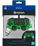 Nacon Compact Controller Luminosi, Verde - PlayStation 4