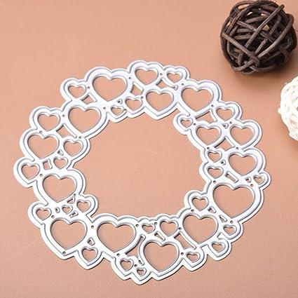 Plantillas de metal con forma de corazón para manualidades, álbum de recortes, tarjetas,