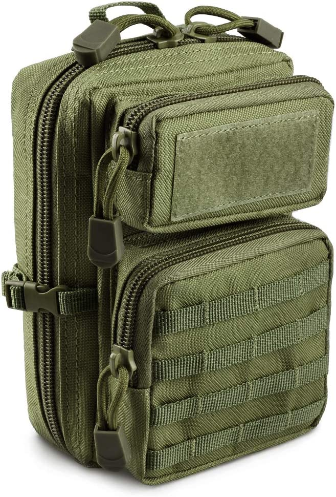 LIVANS Tactical Molle Utility Pouch, EDC Tool Pouch Tactical Phone Pouches Mini Waist Pouches Medical EDC IFAK Pack Mini Design of 3-Day Assault Backpack : Sports & Outdoors