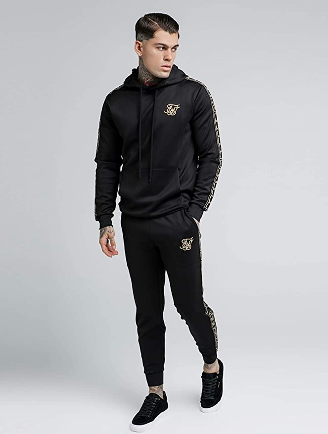 SIK SILK Mens Cartel Poly Pullover Hoodie, Black, Medium at Amazon Mens Clothing store: