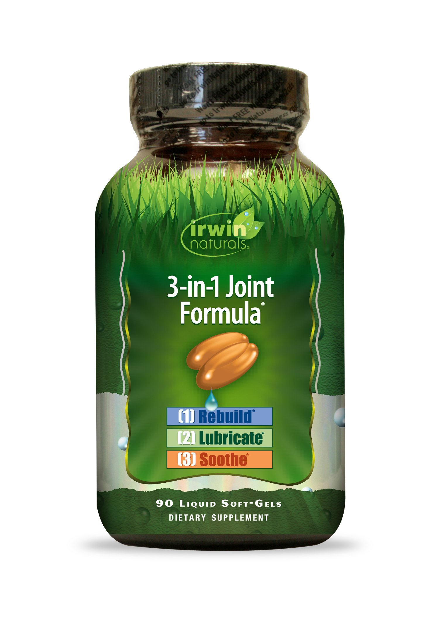 Irwin Naturals 3-in-1 Joint Formula - Powerful Joint Support Supplement with Glucosamine, Chondroitin, Turmeric & Boswellia - 90 Liquid Softgels by Irwin Naturals