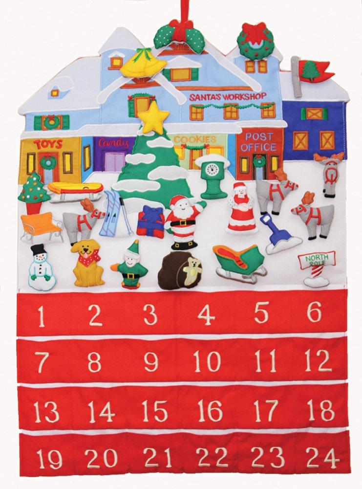 Santa's Workshop Fabric Advent Calendar (Countdown to Christmas)