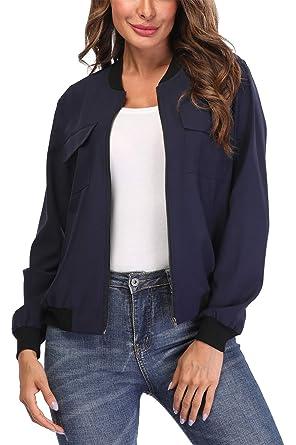 varietà larghe preordinare Sconto del 60% MISS MOLY Bomber Donna Giacca con Cerniera Maniche Lunghe Bomber Jacket