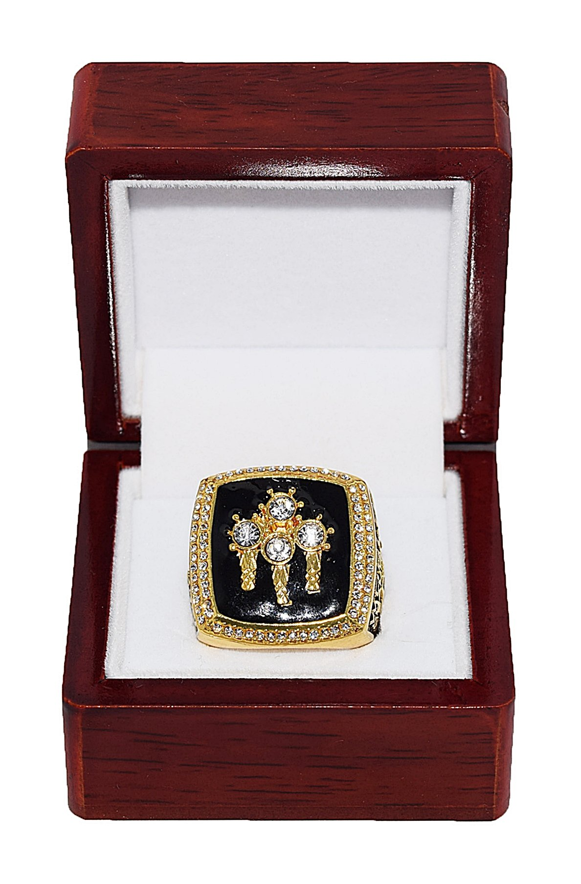 CHICAGO BULLS (Michael Jordan) 1996 NBA FINALS WORLD CHAMPIONS (72 Wins. Greatest Team Ever) Rare & Collectible High Quality Replica NBA Basketball Championship Ring with Cherrywood Display Box