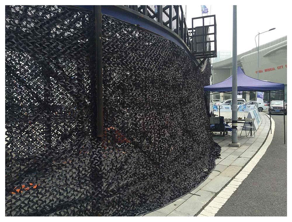 55M Yuany Filet de Camouflage pour Enfants, Compte d'auvent d'isolation de Filet d'ombrage d'ombrage de Filet de Camouflage de 2x4m de boisland Suitable for noir Hunting noir Diverses Tailles Plusie
