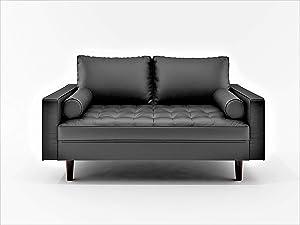 US Pride Furniture Loveseat Black