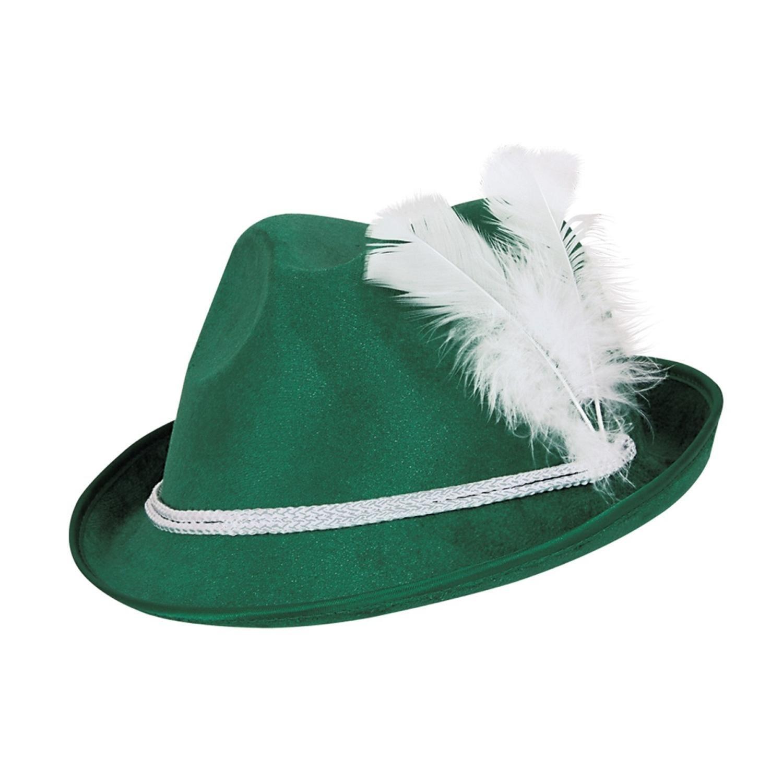 Pack of 12 Forest Green Vel-Felt Alpine Oktoberfest Party Hat