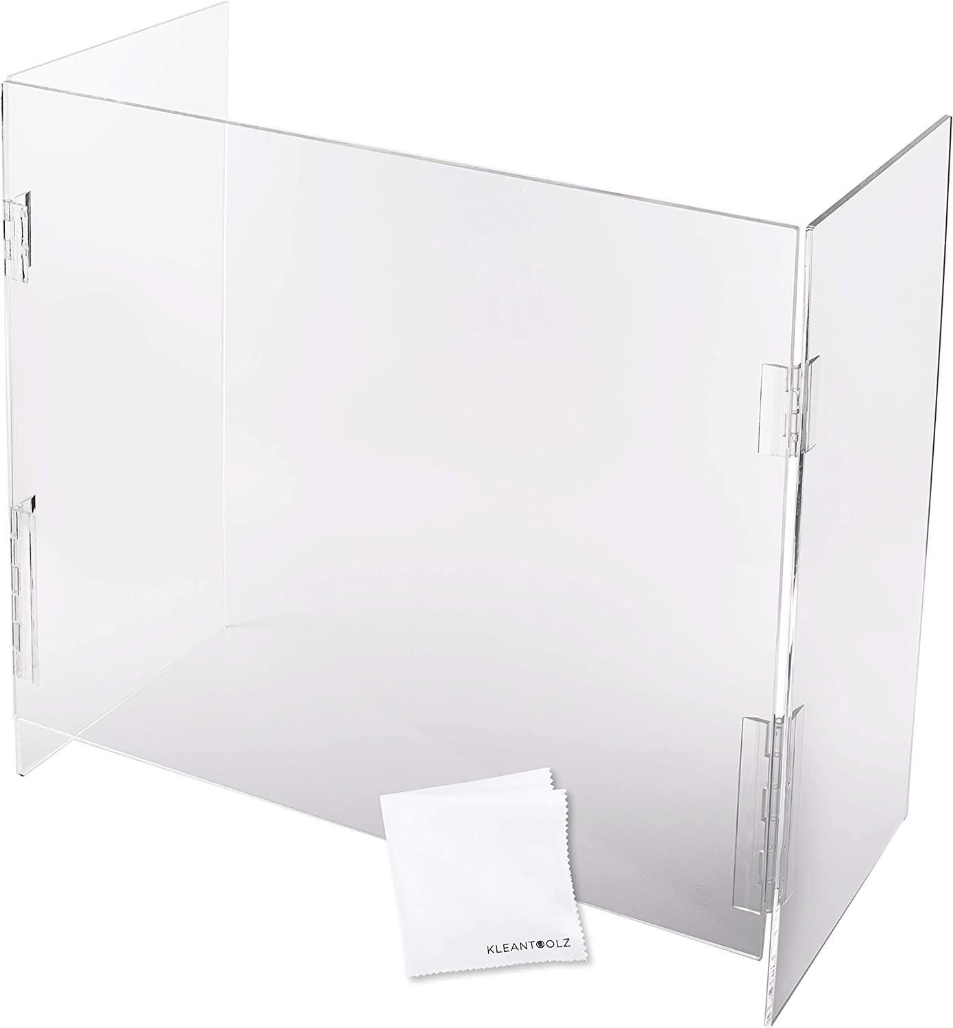 "U-Shield Clear Plexiglass Acrylic Protective Sneeze Guard Counter Shield Plexi Glass Screen Divider Barrier for Reception Office School Salon Partition Window (42""L x 24""W)"