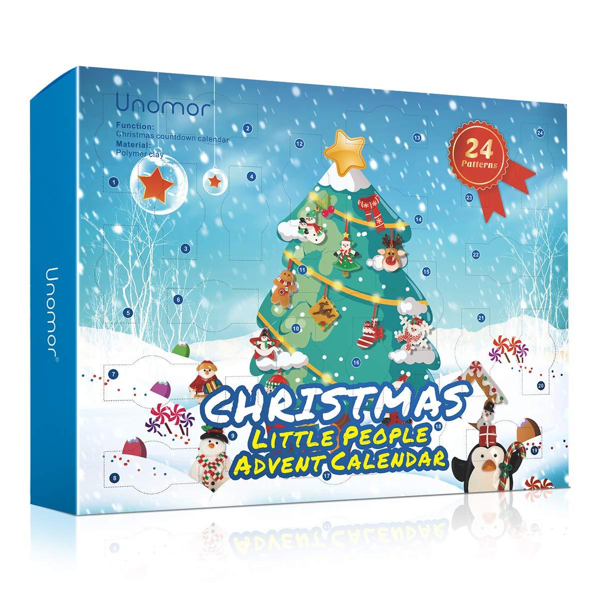 Amazon.com: Unomor Christmas Countdown Advent Calendar – 24 Pieces Christmas  Ornaments Decorations: Home & Kitchen
