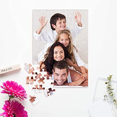 Custom Puzzle 1000 Piece, Personalized Jigsaw Puzzles with Your Photo&Text, Family Photo Gift, Toys Gift, Boredom Buster Activity, Pet Portrait for Toddlers, Kids, Adults, Boys, Girls, Kids: Toys & Games