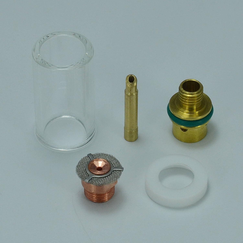 Lot de 5 r/écipients /à gaz en pyrex pour torche WP SR 9 20 25 TIG 1,6 mm