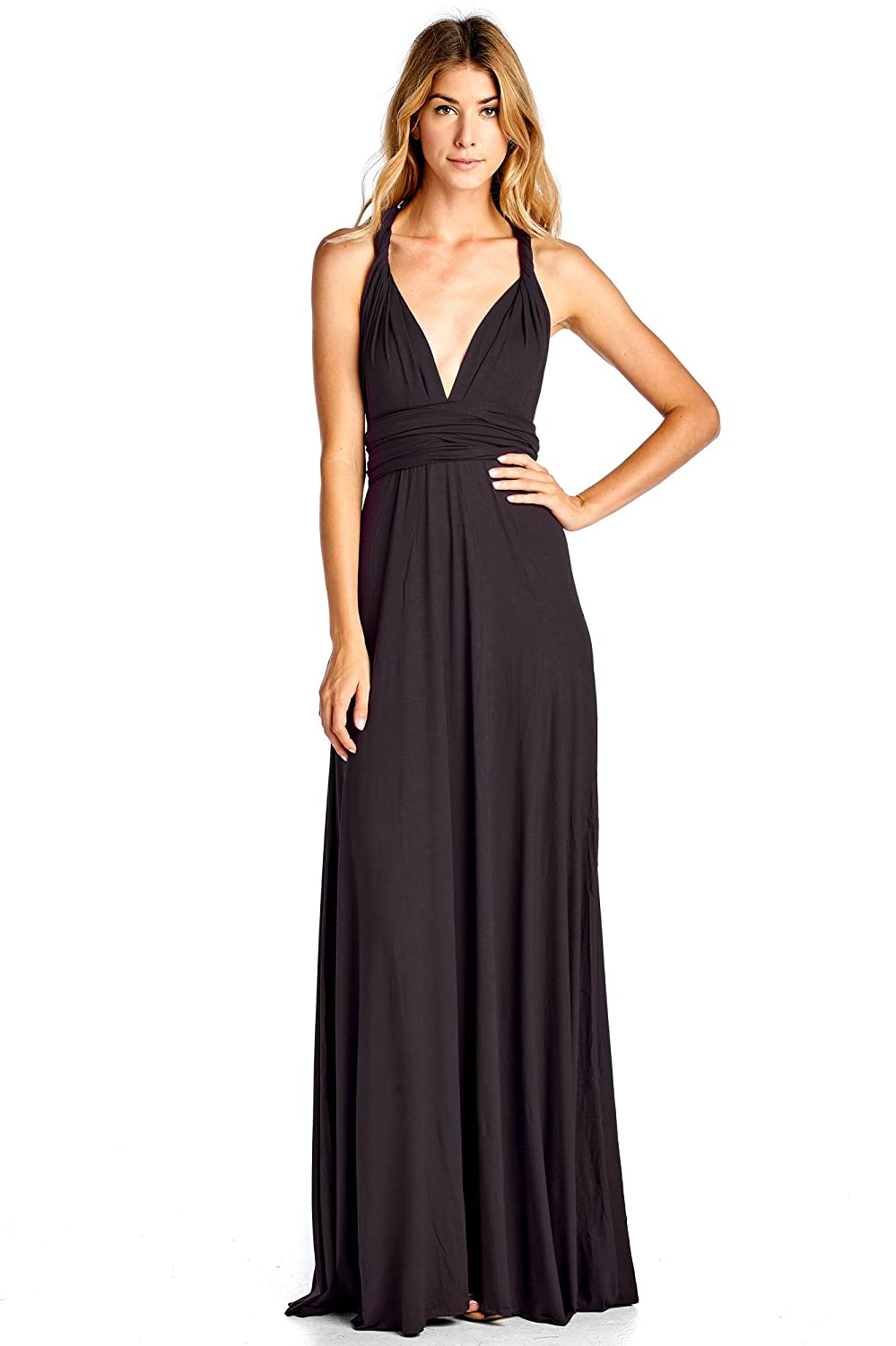 Bridesmaid dresses amazon solid convertible multi way long t shirt maxi dress made in usa ombrellifo Images