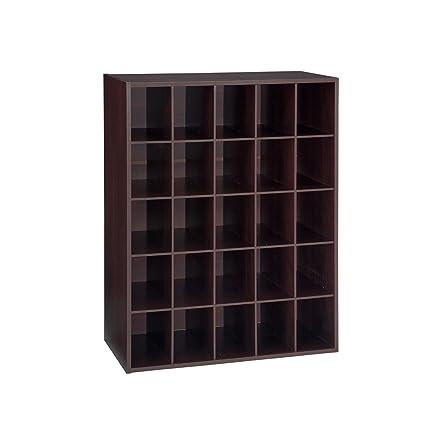 Charmant Closet Shoe Organizer Storage Cabinet Cube, 25 Pair Floor Cubby