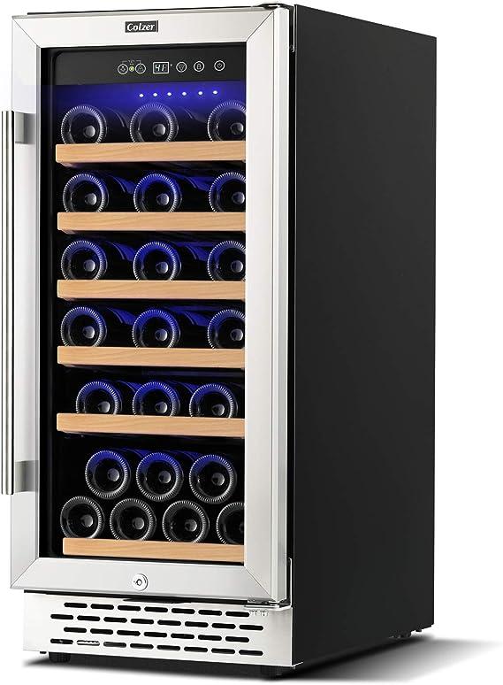 Colzer 15 Inch Wine Cooler Refrigerator